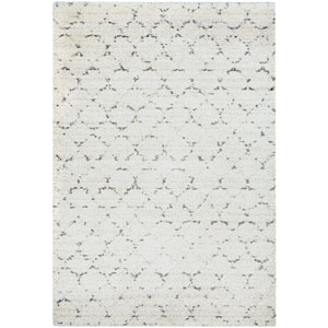 Bromley Davos Snow and Brown Rectangular: 3 Ft. 11-Inch x 5 Ft. 6-Inch  Rug