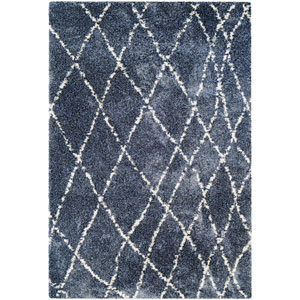 Bromley Whistler Blue and Snow Rectangular: 2 Ft. x 3 Ft. 11-Inch  Rug