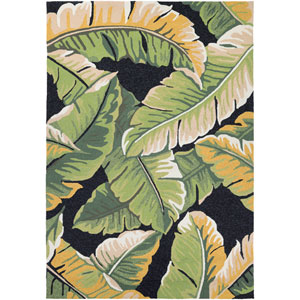 Covington Rainforest Forest Green and Black Rectangular: 2 Ft x 4 Ft Rug