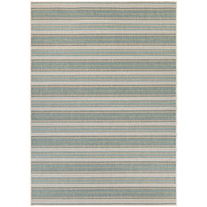 Monaco Marbella Blue Mist and Ivory Rectangular: 7 Ft 6 In x 10 Ft 9 In Rug