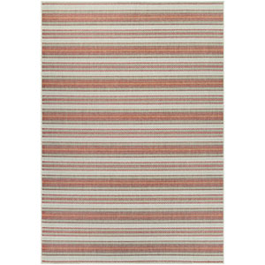 Monaco Marbella Coral and Pewter Rectangular: 7 Ft 6 In x 10 Ft 9 In Rug