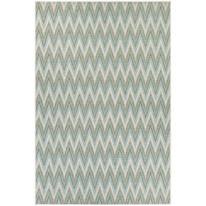 Monaco Avila Blue Mist and Ivory Rectangular: 7 Ft 6 In x 10 Ft 9 In Rug