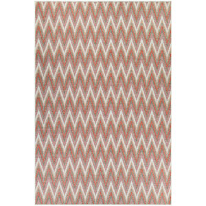 Monaco Avila Coral and Pewter Rectangular: 7 Ft 6 In x 10 Ft 9 In Rug