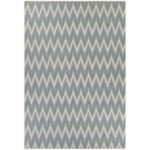Monaco Avila Ivory and Azure Rectangular: 7 Ft 6 In x 10 Ft 9 In Rug