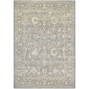 Everest Persian Arabesque Charcoal and Ivory Runner: 2 Ft. x 3 Ft. 7-Inch