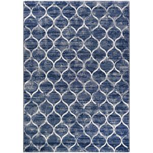 Easton Ogee Dusk Blue Rectangular: 2 Ft. x 3 Ft. 7 In. Rug
