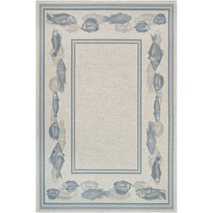 Dolce Corvina Ivory and Light Blue Rectangular: 8 Ft 1 In x 11 Ft 2 In Rug