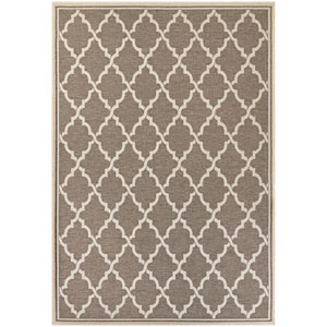 Monaco Ocean Port Taupe and Sand Rectangular: 7 Ft 6 In x 10 Ft 9 In Rug