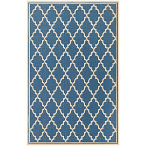 Monaco Ocean Port Azure and Sand Rectangular: 7 Ft 6 In x 10 Ft 9 In Rug