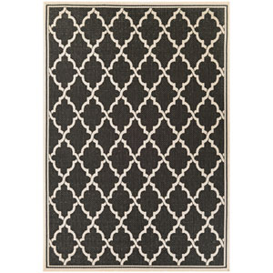 Monaco Ocean Port Black and Sand Rectangular: 7 Ft 6 In x 10 Ft 9 In Rug