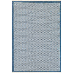 Monaco Sea Pier Sand and Azure Rectangular: 7 Ft 6 In x 10 Ft 9 In Rug