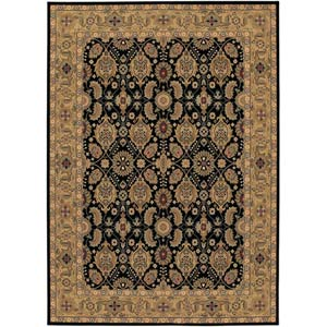 Royal Kashimar All Over Vase Black and Deep Maple Rectangular: 5 ft. 6 in. x 7 ft. 10 in. Rug