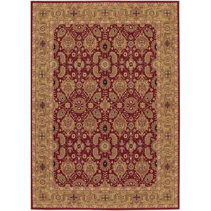 Royal Kashimar All Over Vase Persian Red Rectangular: 5 ft. 6 in. x 7 ft. 10 in. Rug
