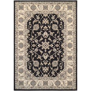 Everest Rosetta Ebony Rectangular: 9 Ft. 2-Inch x 12 Ft. 5-Inch Rug