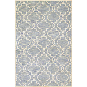 Madera Doretta Light Blue and White Rectangular: 2 Ft. x 4 Ft. Rug