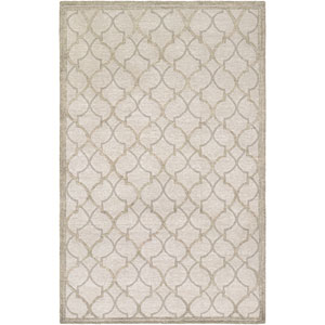 Madera Langdon Gray and Silver Rectangular: 5 Ft. 6-Inch x 8 Ft. Rug