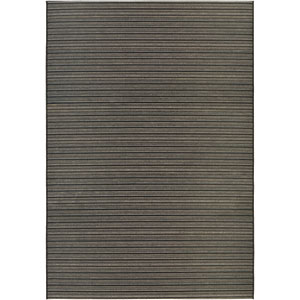 Cape Harwich Black and Tan Rectangular: 7 Ft 10 In x 10 Ft 9 In Rug