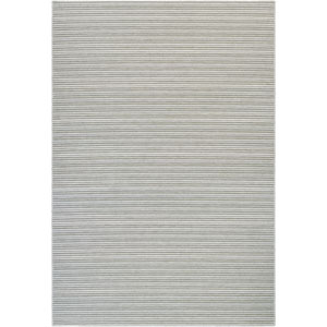 Cape Harwich Light Blue and Silver Rectangular: 6 Ft 6 In x 9 Ft 6 In Rug