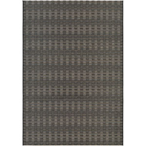 Cape Barnstable Black and Tan Rectangular: 6 Ft 6 In x 9 Ft 6 In Rug