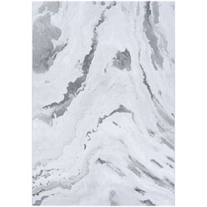 Serenity Abstract Marble Opal and Mushroom Rectangular: 2 Ft. x 3 Ft. 11 In. Rug