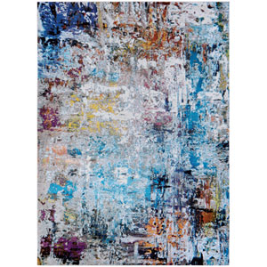 Gypsy Aquarelle Bone and Multicolor Runner: 2 Ft. 3 In. x 7 Ft. 6 In. Rug