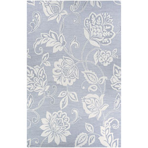Crawford Azalea Grey and Ivory Rectangular: 2 Ft. x 3 Ft. Rug