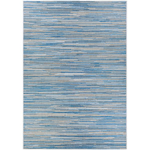 Monte Carlo Coastal Breeze Ocean and Champagne Rectangular: 2 Ft. x 3 Ft. 7 In. Indoor/Outdoor Rug