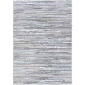 Monte Carlo Coastal Breeze Taupe and Champagne Runner: 2 Ft. 3 In. x 11 Ft. 9 In. Indoor/Outdoor Rug