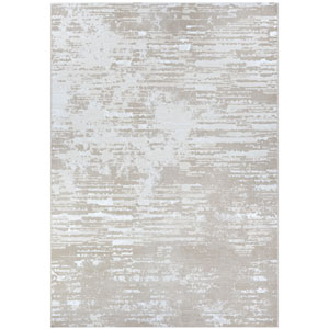 Serenity Cryptic Beige and Champagne Rectangular: 3 Ft. 11 In. x 5 Ft. 6 In. Rug