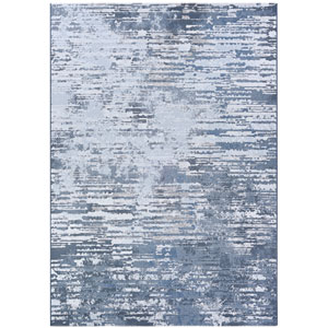 Serenity Cryptic Grey and Opal Rectangular: 3 Ft. 11 In. x 5 Ft. 6 In. Rug