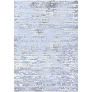 Serenity Cryptic Light Grey and Champagne Rectangular: 3 Ft. 11 In. x 5 Ft. 6 In. Rug