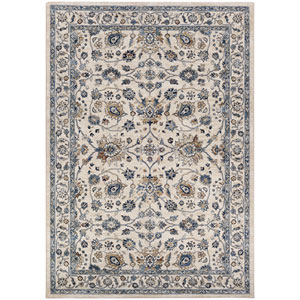 Monarch Kerman Vase Antique Cream and Slate Rectangular: 3 Ft. 3 In. x 5 Ft. 3 In. Rug
