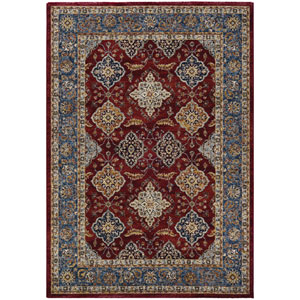 Monarch Yamut Bordeaux and Slate Rectangular: 3 Ft. 3 In. x 5 Ft. 3 In. Rug