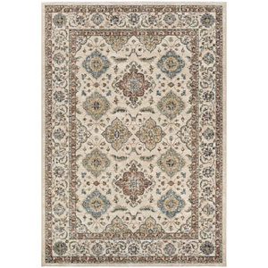 Monarch Yamut Antique Cream and Mocha Rectangular: 3 Ft. 3 In. x 5 Ft. 3 In. Rug