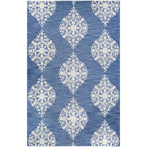 Crawford Ornament Blue Jay and Ivory Rectangular: 2 Ft. x 3 Ft. Rug