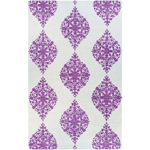 Crawford Ornament Magenta Rectangular: 2 Ft. x 3 Ft. Rug