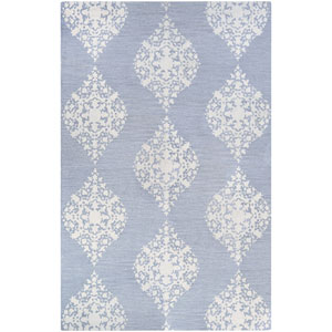 Crawford Ornament Pewter Rectangular: 2 Ft. x 3 Ft. Rug