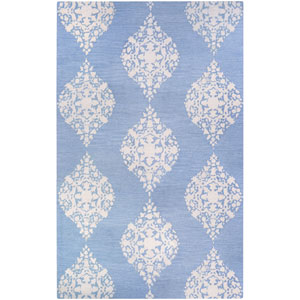 Crawford Ornament Powder Blue Rectangular: 2 Ft. x 3 Ft. Rug