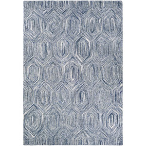Crawford Princess Cut Denim and Ivory Rectangular: 2 Ft. x 3 Ft. Rug