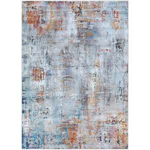 Gypsy Street Art Bone and Multicolor Rectangular: 8 Ft. x 10 Ft. 9 In. Rug
