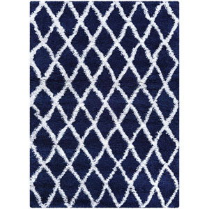 Urban Shag Temara Navy Blue and White Rectangular: 2 Ft. x 3 Ft. 11 In. Rug