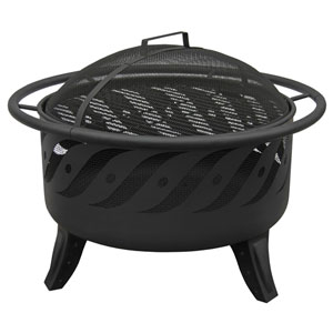 Patio Lights Firewave Fire Pit - Black