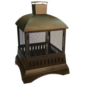 50-Inch Grandezza Outdoor Clovis Fireplace - Metallic Brown