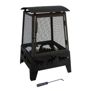 Haywood Wildlife Fire Pit - Black