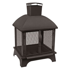 Redford Outdoor Fireplace - Black