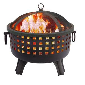 Garden Lights Savannah Fire Pit - Black