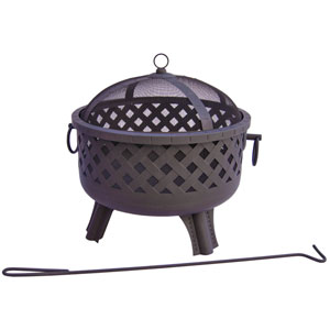 Garden Lights Baton Rouge Fire Pit - Black