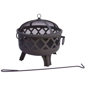 Garden Lights Sarasota Fire Pit - Black