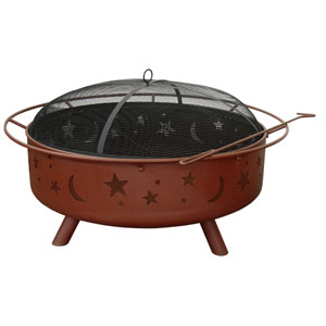 Super Sky, Stars, and Moons Fire Pit - Georgia Clay
