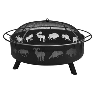 Super Sky Wildlife Fire Pit - Black